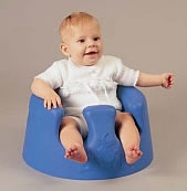 Blue bumbo baby seat.