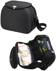 Black baby bjorn diaper bag.