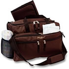 Brown Eddie Bauer diaper bag.