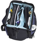 Inside of lands end diaper bag.