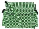 Green circle print oi oi diaper bag.